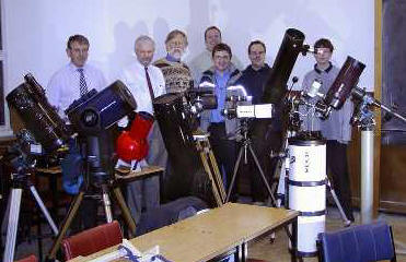 A selection of ADAS members and their telescopes